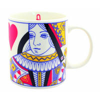 Queen Of Hearts Playing Card Mug