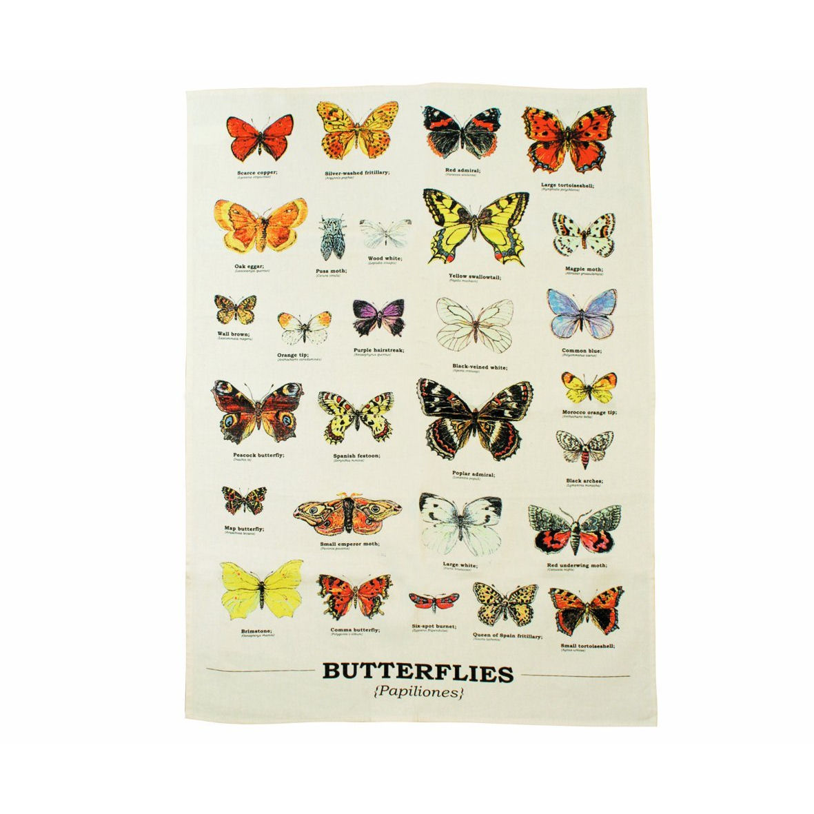 Butterfly Species Tea Towel