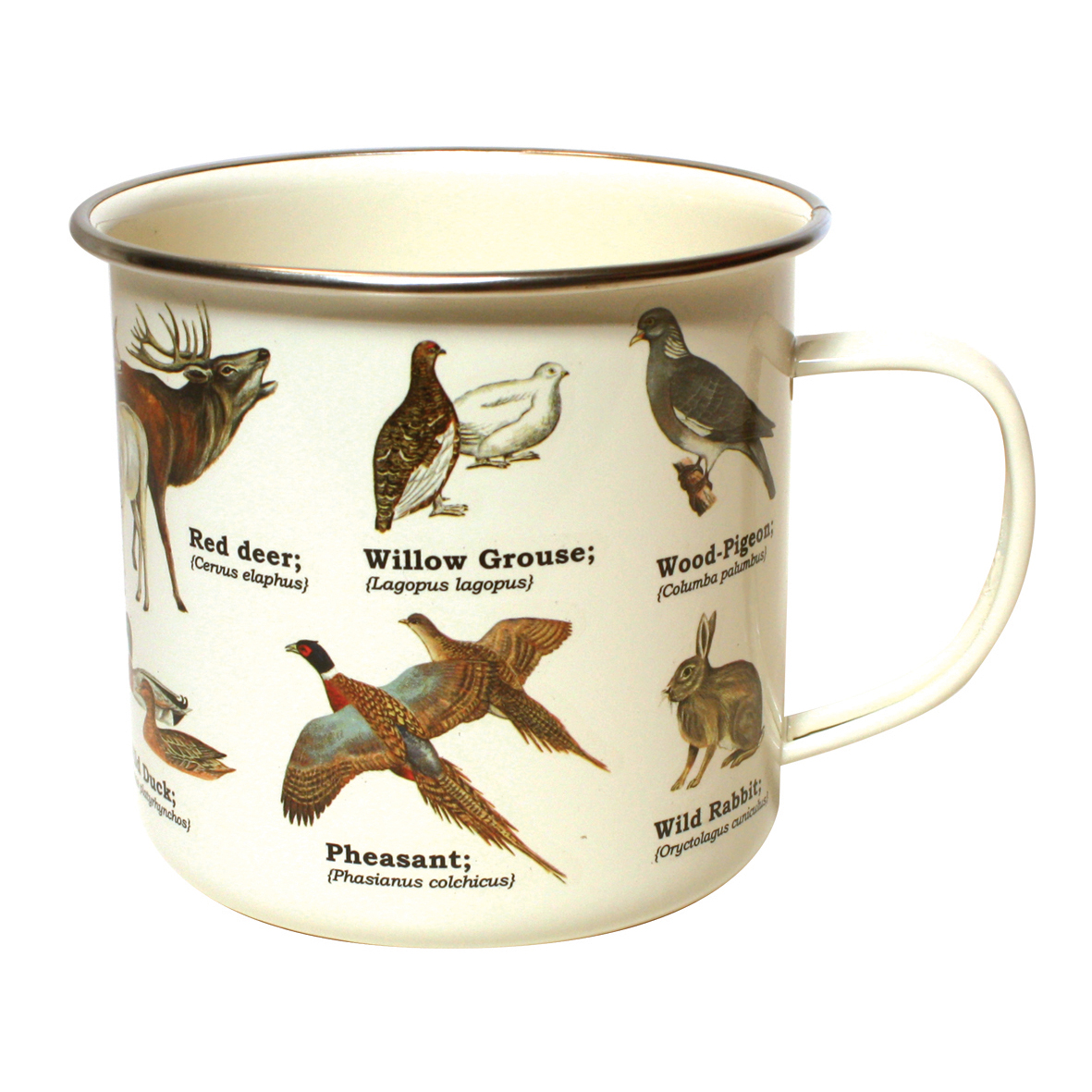 Wild Animals Enamel Mug