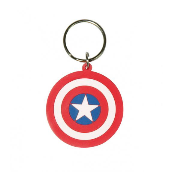 Captain America Shield Rubber Keyring