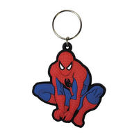 Spiderman Crouching Pose Rubber Keyring