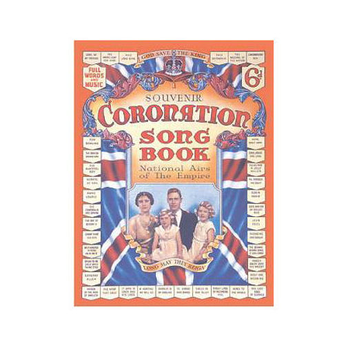 Coronation Song Book Postcard