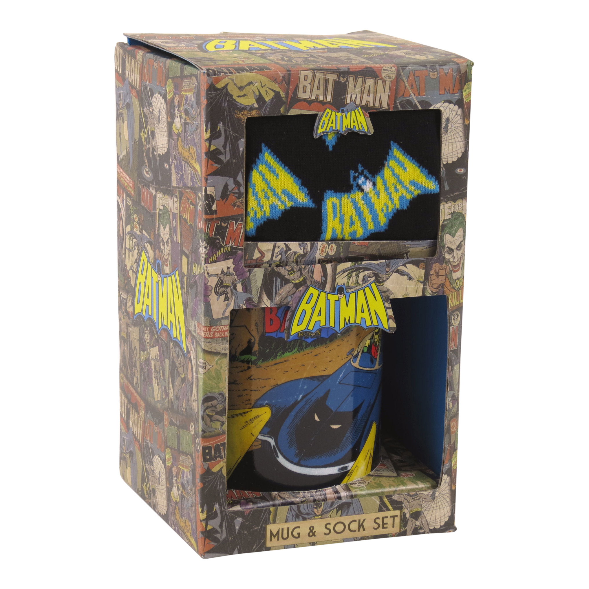 Batman Vintage Mug and Sock Gift Set