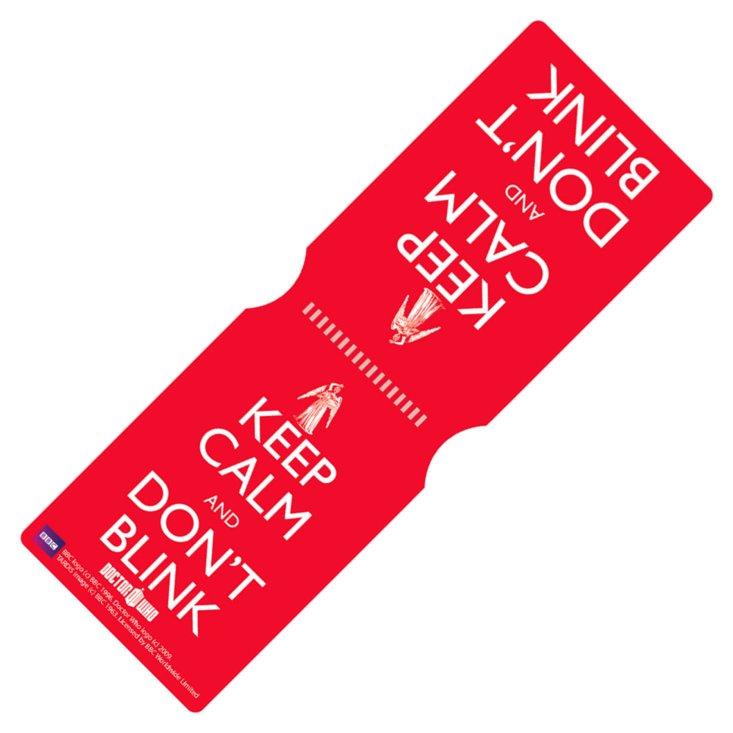 Keep Calm Don't Blink Travel/Oyster Card Holder