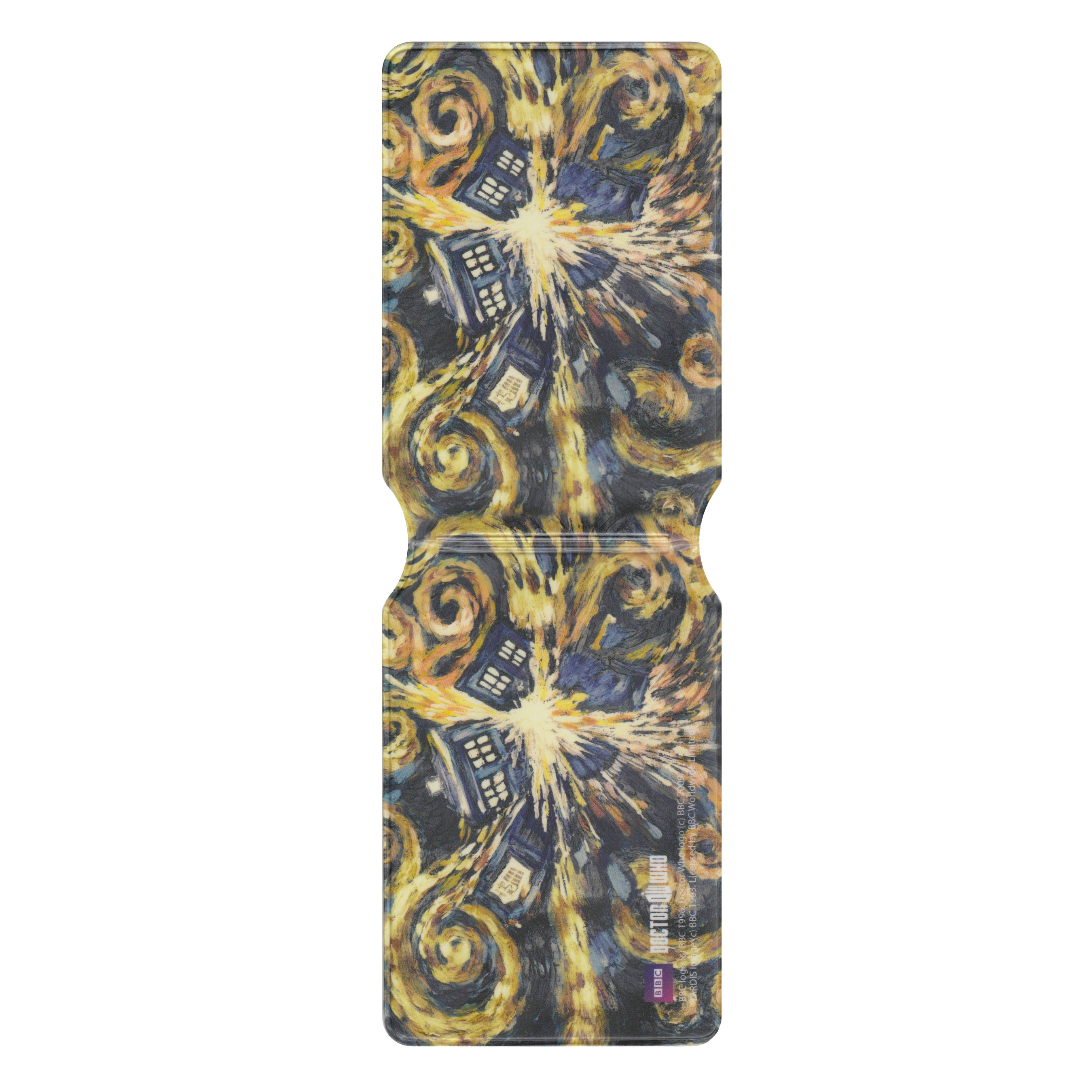 Van Gogh Exploding Tardis Travel/Oyster Card Holder