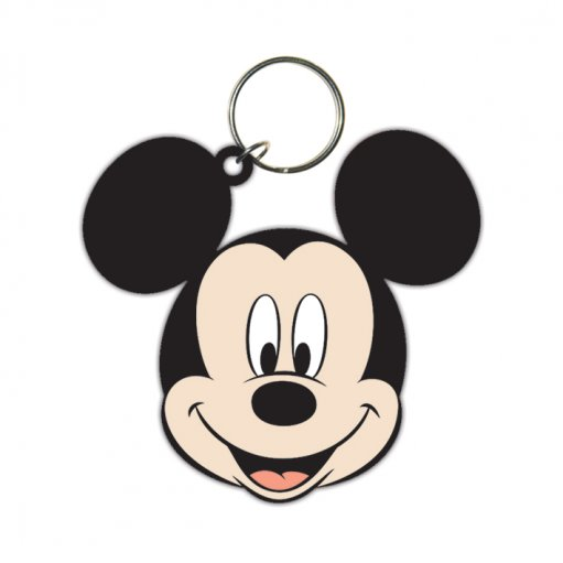 Disney Mickey Mouse (Head) Rubber Keyring