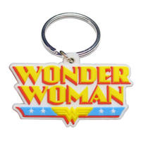 Wonder Woman Logo Rubber Keyring Thumbnail 1