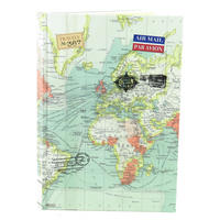 Vintage Map A5 Hardback Notebook
