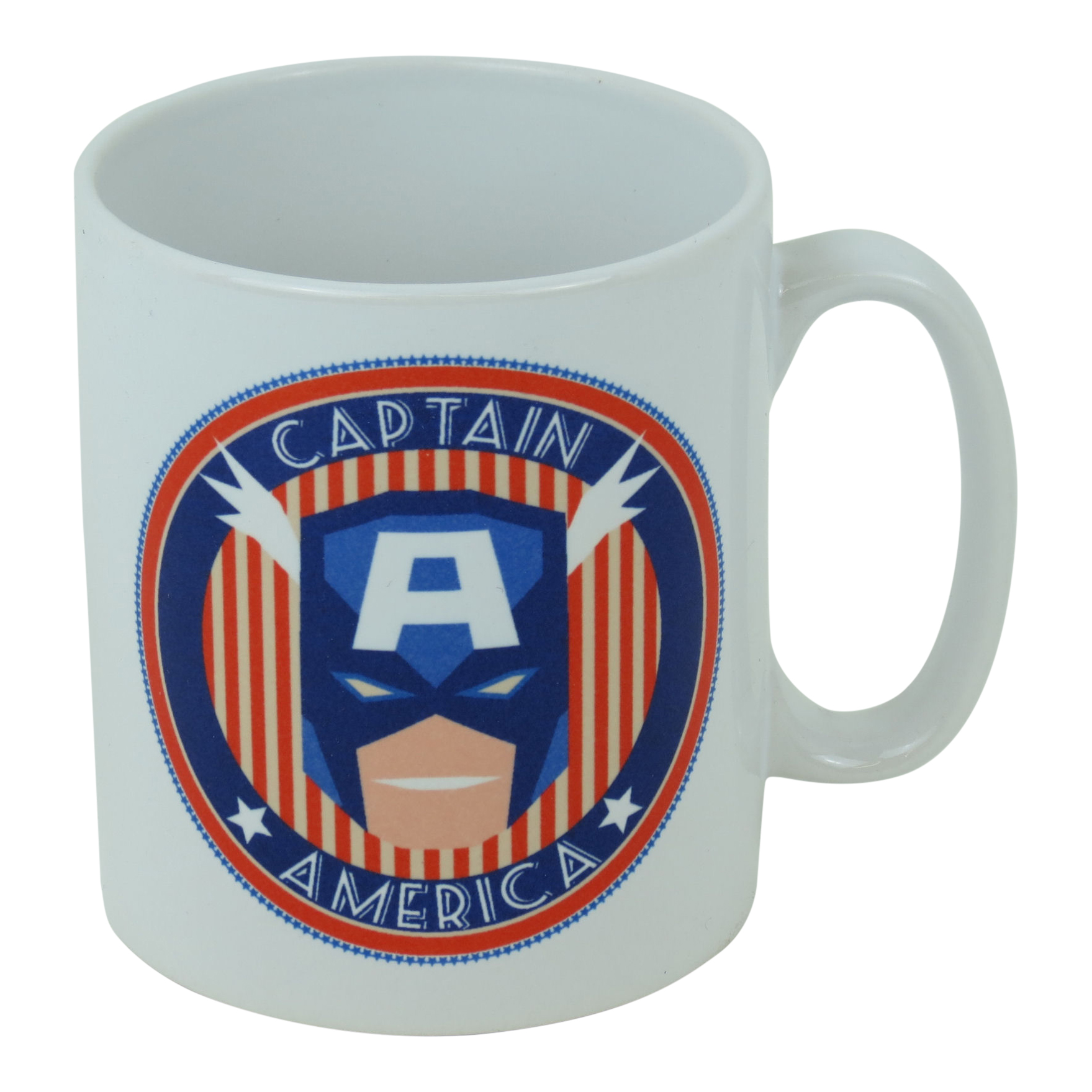 Art Deco Captain America Face Mug
