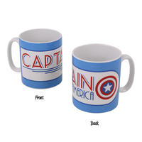 Art Deco Captain America Blue Logo Mug Thumbnail 1