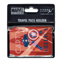 Art Deco Captain America Figure Travel/Oyster Card Holder Thumbnail 2