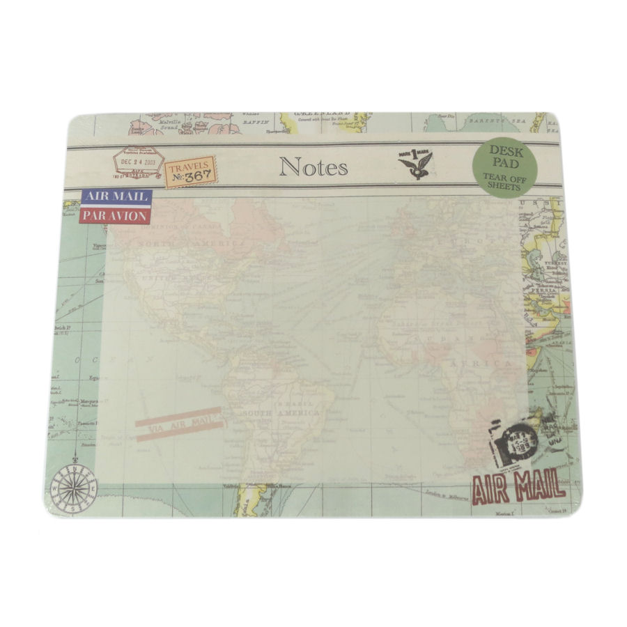 Vintage Map Tear Off Mouse Mat Pad