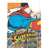 Superman Telephone Cubicle Shower Curtain Thumbnail 2