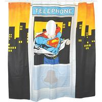 Superman Telephone Cubicle Shower Curtain Thumbnail 1