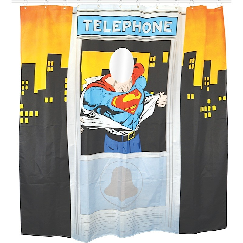 Superman Telephone Cubicle Shower Curtain