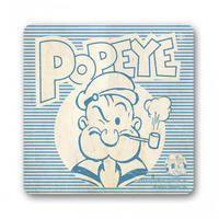 Popeye Blue & White Coaster