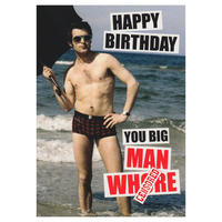 Happy Birthday You Big Man W**** Greeting Card