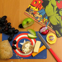 Retro Batman Logo Breakfast Cutting Board Thumbnail 3