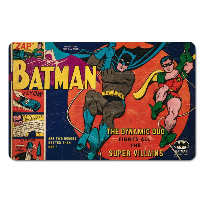 Batman & Robin The Dynamic Duo Breakfast Cutting Board