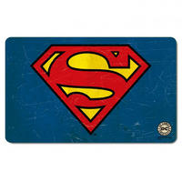 Superman Traditional Logo Breakfast Cutting Board Thumbnail 1