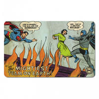 "Superman & Batman ""The Mightiest Team"" Breakfast Cutting Board Thumbnail 1"