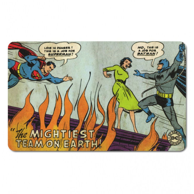 "Superman & Batman ""The Mightiest Team"" Breakfast Cutting Board"