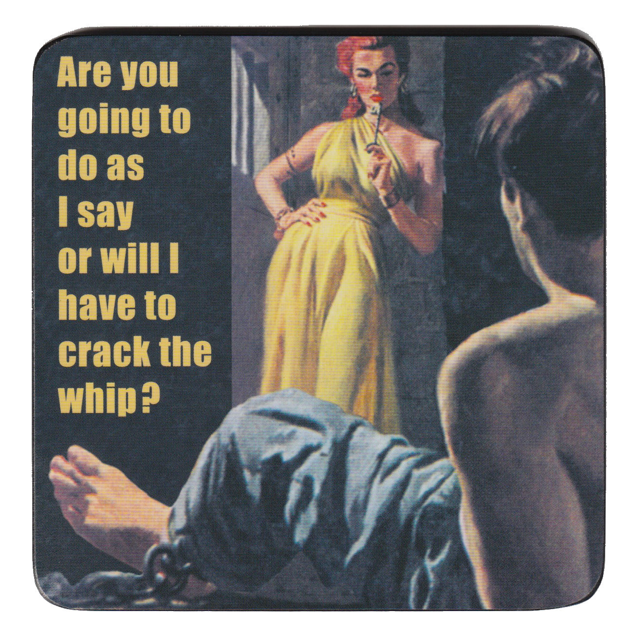 Are You Going To Do As I Say Or Will I Have To Crack The Whip? Single Coaster.