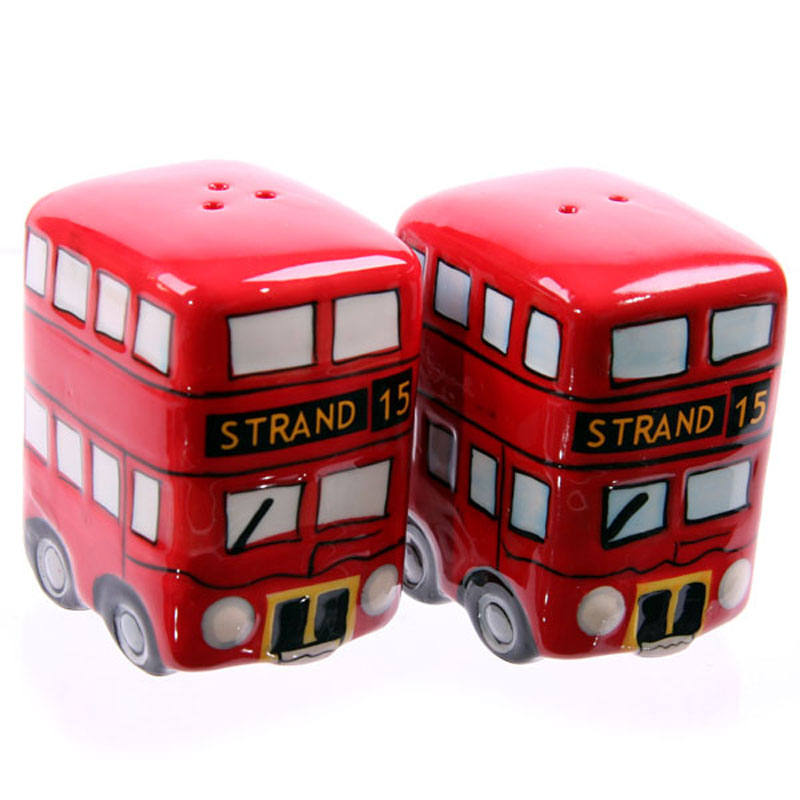 London Bus Ceramic Salt & Pepper Pots