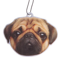 Pug Dog Peach Scented Air Freshener