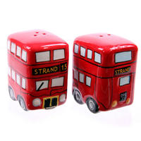 London Bus Ceramic Salt & Pepper Pots Thumbnail 3