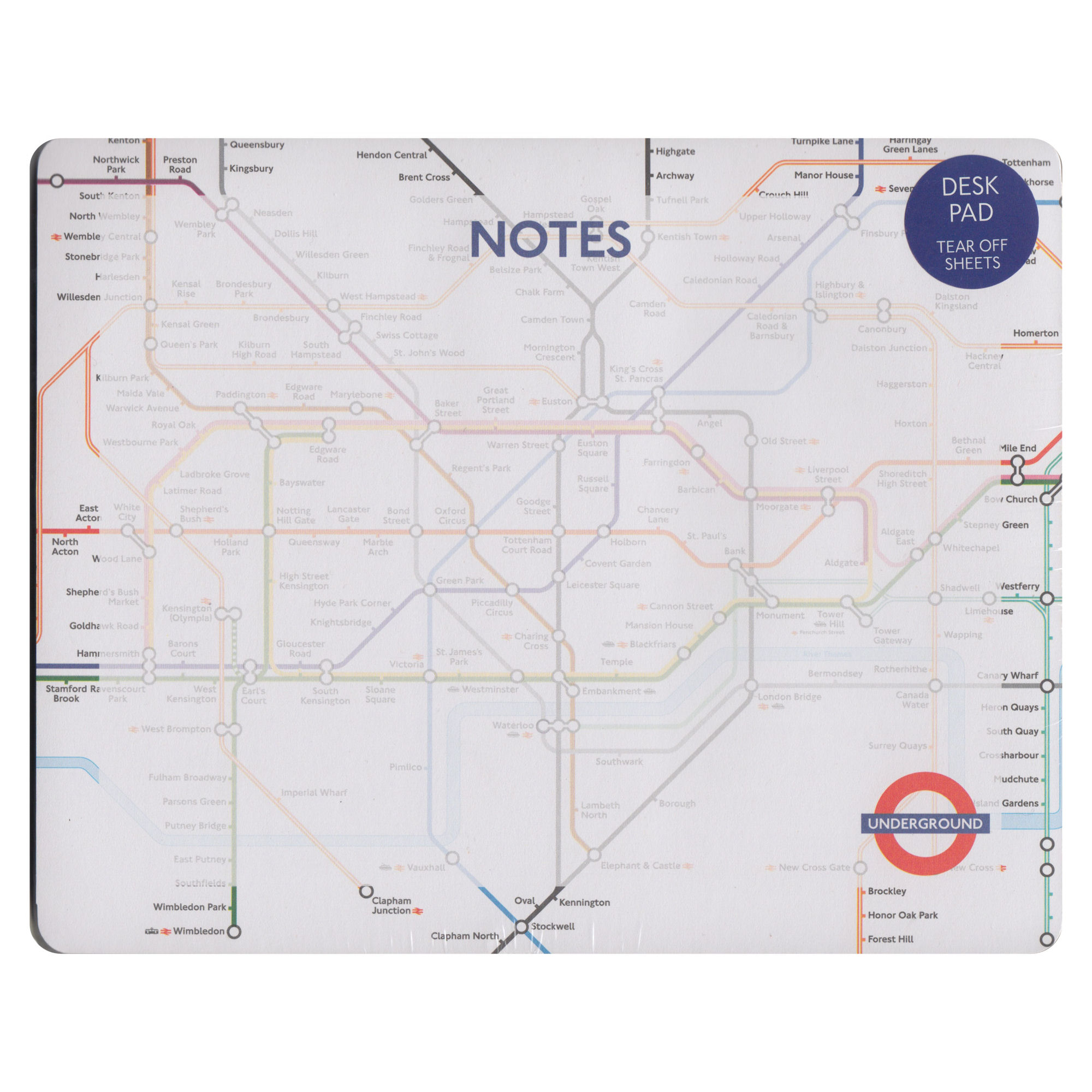 London Underground Tear Off Mouse Mat Pad