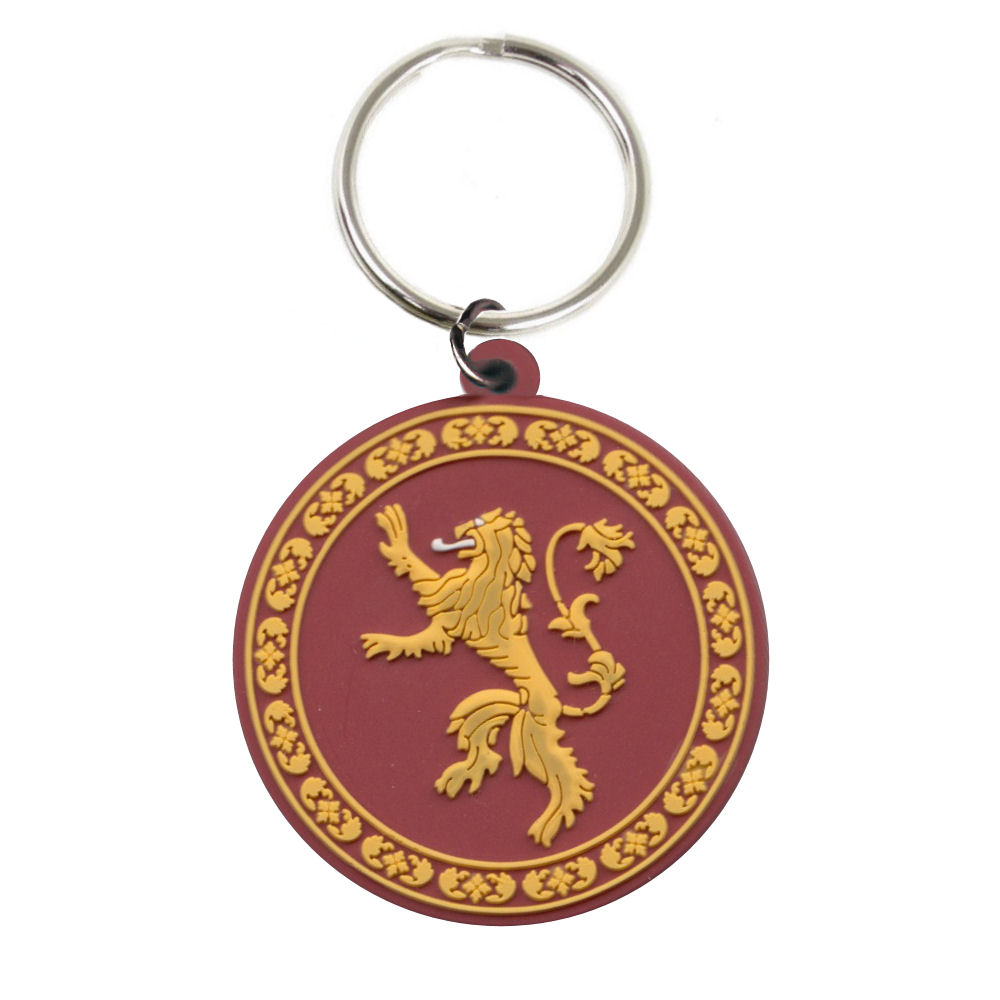 Game of Thrones House Lannister Rubber Keyring