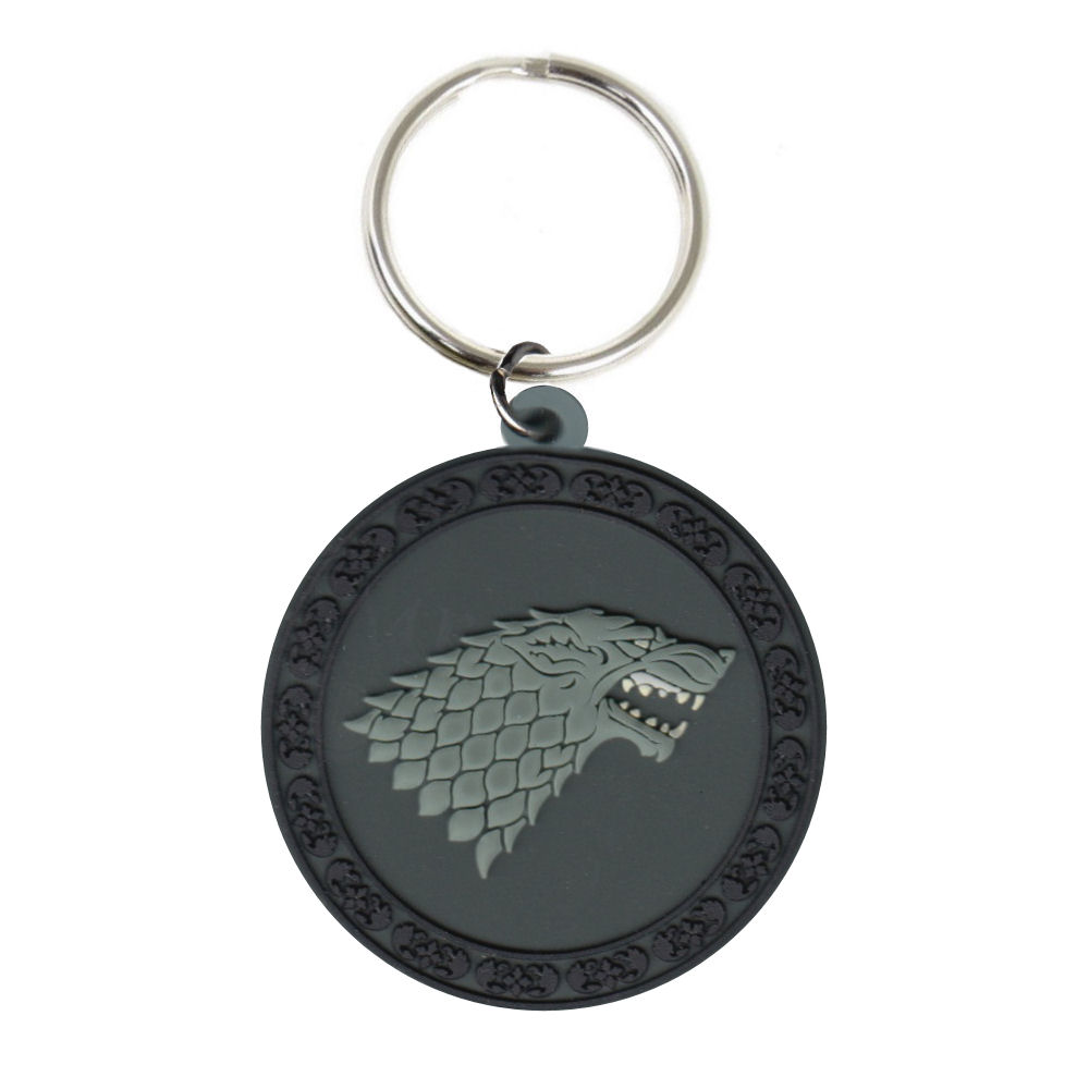 Game of Thrones House Stark Rubber Keying