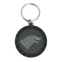 Game of Thrones House Stark Rubber Keying Thumbnail 1