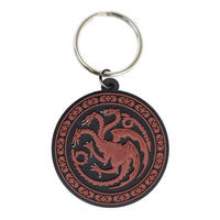 Game of Thrones House Targaryen Rubber Keying Thumbnail 1