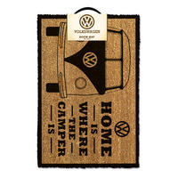 VW Home Is Where The Camper Is Door Mat