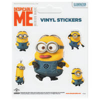 Despicable Me (Rendered Minions) Set of 5 Vinyl Stickers