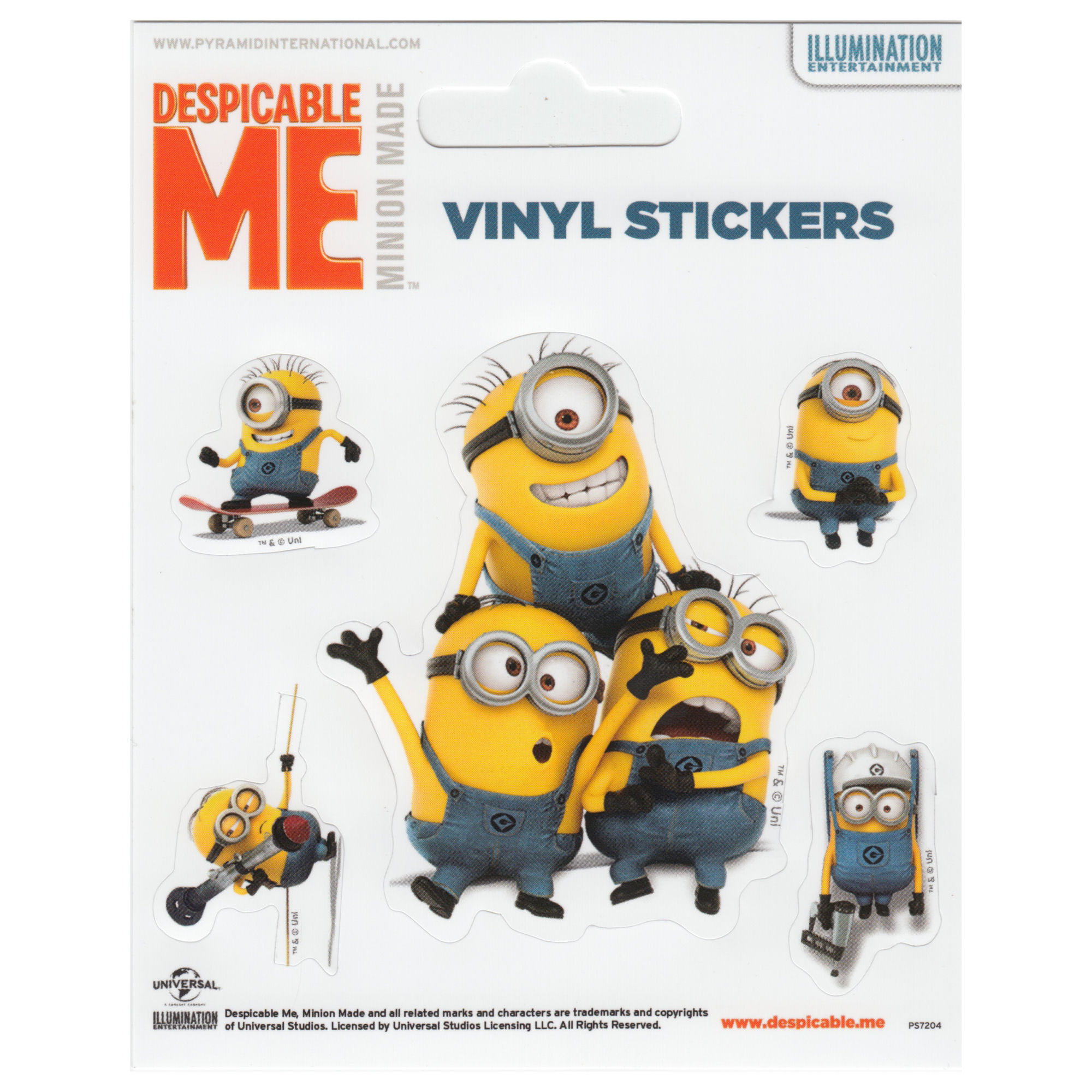Despicable Me (Minions Doing) Set of 5 Vinyl Stickers
