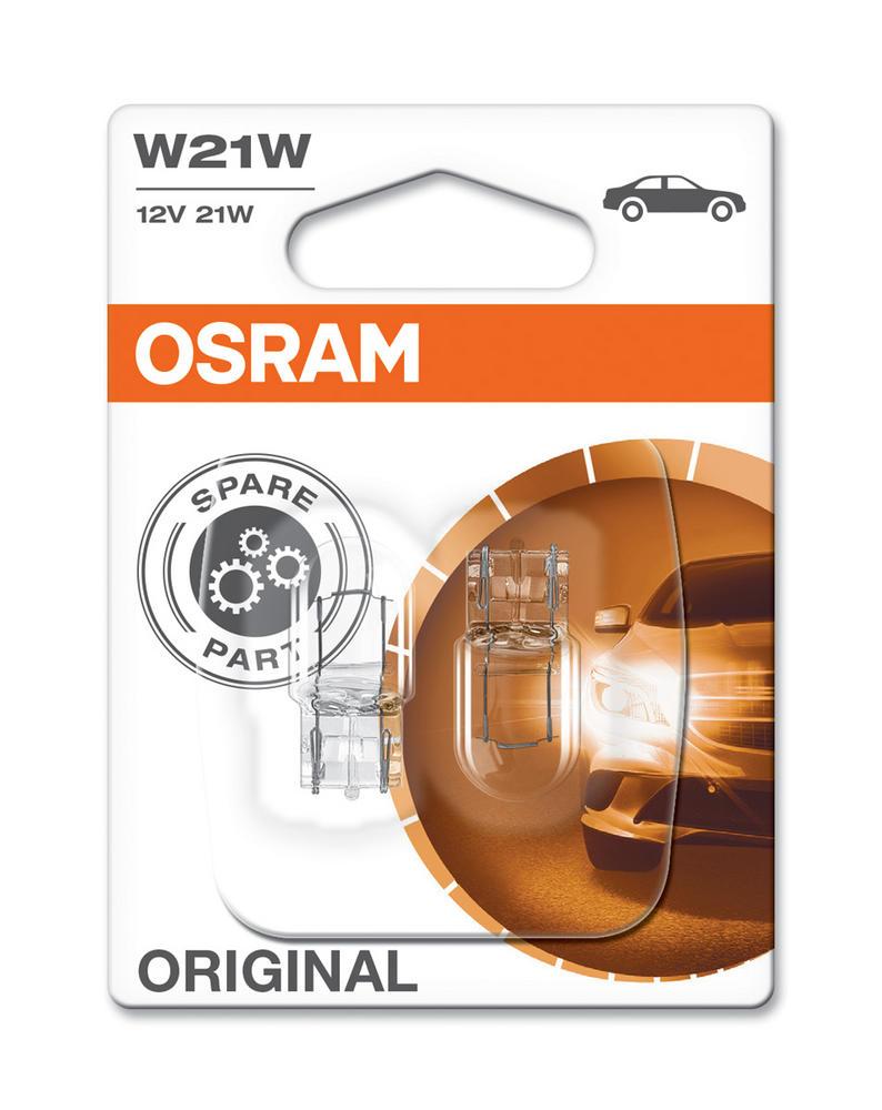 Osram W21W (582) 21W Original Standard Bulbs Wedge Fit W3X16d (x2) 7505-02B