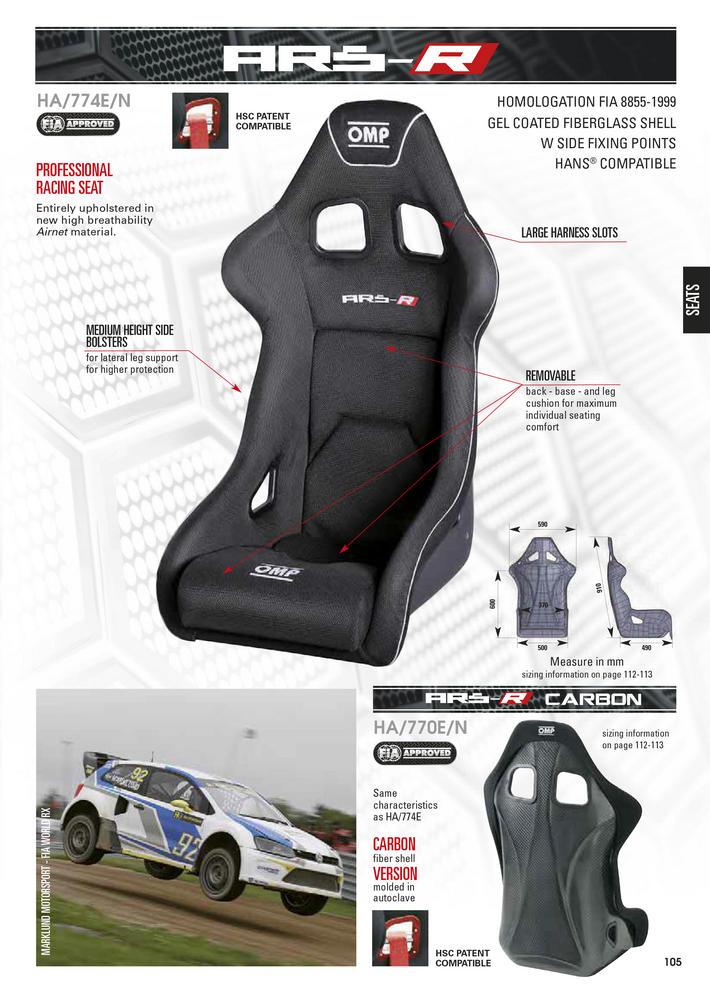 Ha 774e Omp Quot Ars R Quot Racing Seat Airtex Gel Coated