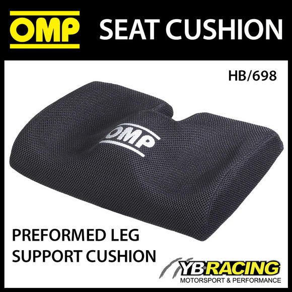 HB/698 OMP RACING SEAT PREFORMED LEG SUPPORT CUSHION in BLACK - UNIVERSAL FIT