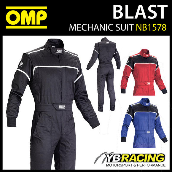 NB/1578 OMP BLAST SUPER RESISTANT MECHANIC PIT CREW SUIT - 3 COLOURS!