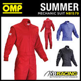 NEW! NB/1579 OMP SUMMER LIGHTWEIGHT & DURABLE MECHANIC OVERALLS SUIT - 3 COLOURS