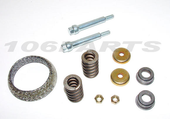 Peugeot 106 Exhaust Fitting Kit (downpipe to centre) XSi RALLYE GTi S16 - New Thumbnail 2