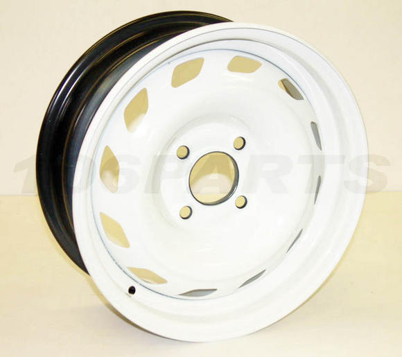 "DISCONTINUED Peugeot 106 1.6 RALLYE Genuine Michelin Sport Steel Wheel in White 6x14"" - New Thumbnail 2"