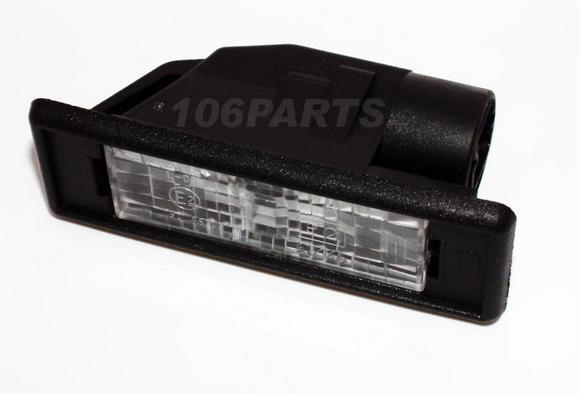 Peugeot 106 Rear Number Plate Light all 106 inc XSi RALLYE GTi S16 - Genuine Thumbnail 2