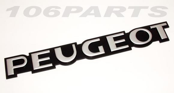 Peugeot 106 S1 91-96 'PEUGEOT' Rear Body Badge - New Genuine Peugeot Part Thumbnail 2