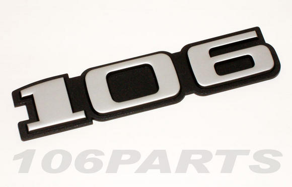 Peugeot 106 S1 91-96 '106' Rear Silver Body Badge - New Genuine Peugeot Part Thumbnail 2