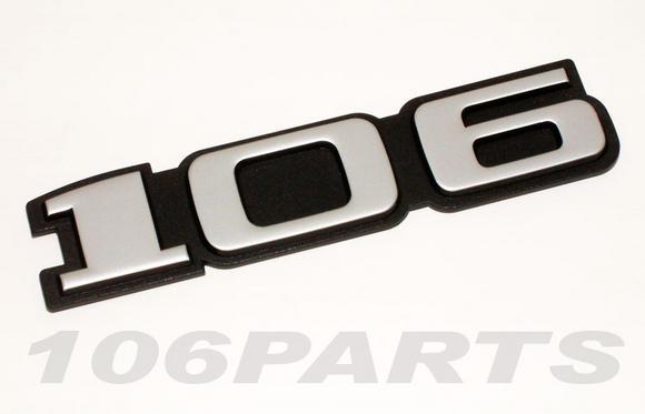 Peugeot 106 S1 91-96 '106' Rear Silver Body Badge - New Genuine Peugeot Part Thumbnail 2