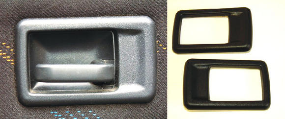 Peugeot 106 Interior door handle covers (PAIR) XS XSi RALLYE GTi QUIKSILVER Thumbnail 3